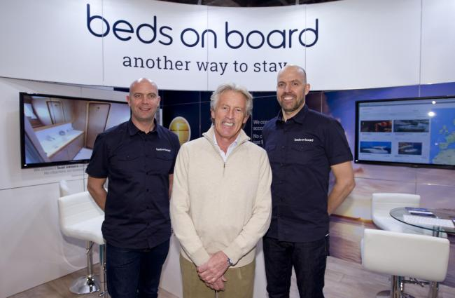 Beds on Boards founders Jason Ludlow, Sir Peter Ogden and Tim Ludlow.