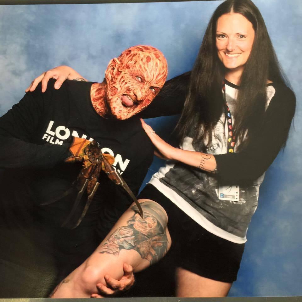 Southampton Mum Katy Chase Gets Tattoo Of Horror Film Character Freddy Krueger Daily Echo