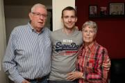 Photo Stuart Martin -  Scott Wilson who says he was sent home from Southampton General Hospital with a broken back after doctors misread his x-rays Scott pictured with his parents Tony and Melva Wilson.
