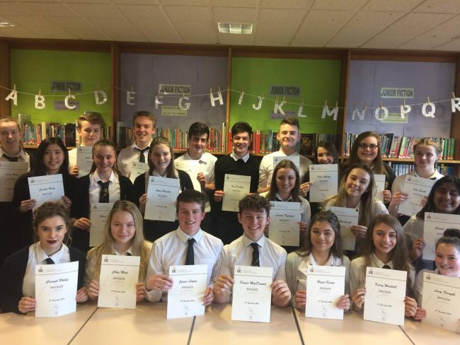Pupils completed the Duke of Edinburgh award.