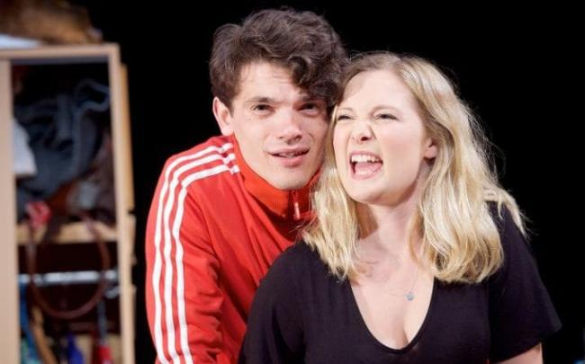 James Bluebell & Amy Morgan in Touch by Vicky Jones at Soho Theatre. Photo: Tristram Kenton