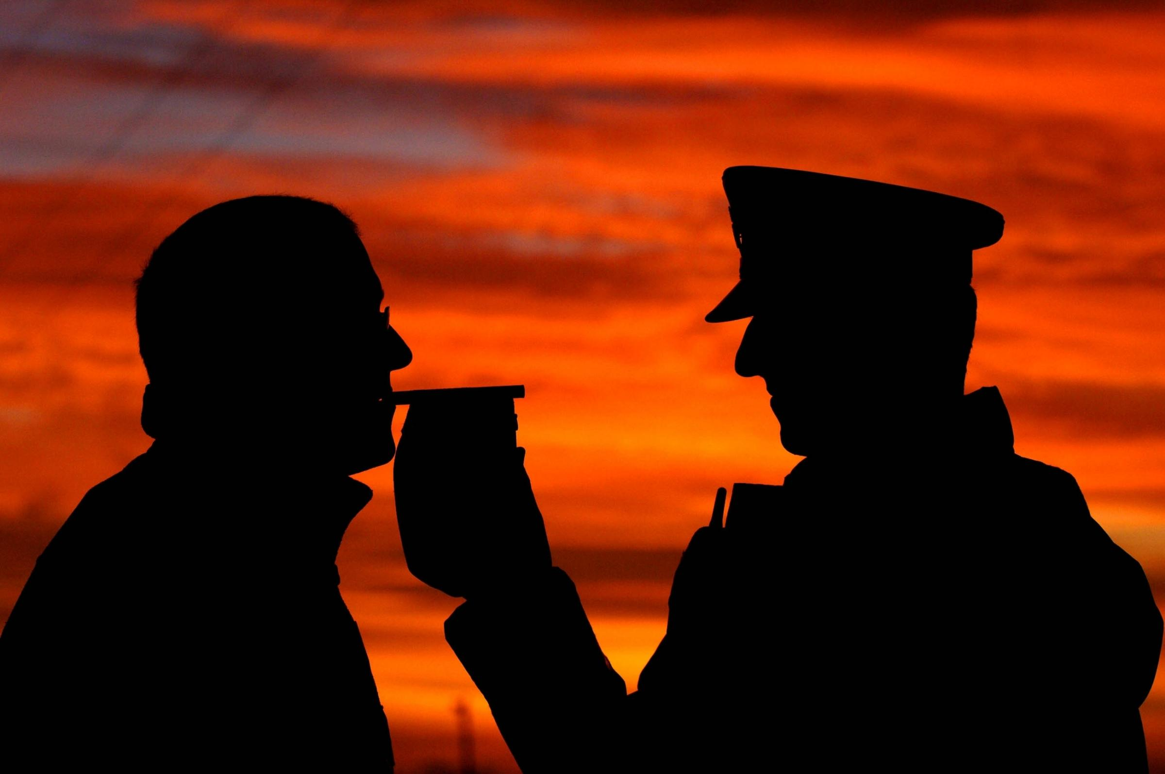 One of the dangers of excess alcohol that stays in the system is an early morning breath test by the Police to establish if the driver exceeds the drink and drive limit.Health stock pix.PA Photo John Giles