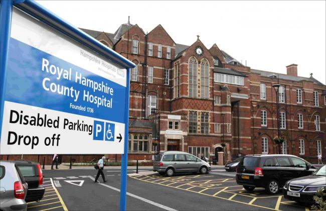 Royal Hampshire County Hospital RHCH exterior stock. Wednesday 17th September 2014..