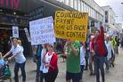 Campaigners march to council offices to save respite centre