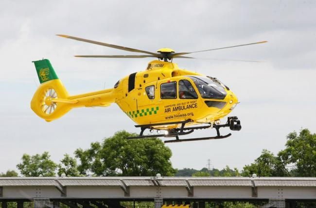 Hampshire and Isle of Wight Air Ambulance (stock photo)