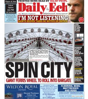 Daily Echo: Spin city: A giant Ferris wheel is set to come to Southampton