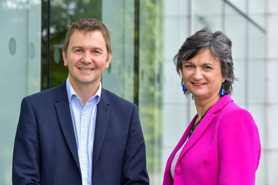 Simon Holdsworth, managing partner of Thrings in Hampshire welcoming commercial and corporate specialist, Mary Chant, who has joined as a partner.