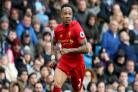 Liverpool's Nathaniel Clyne in action at the Etihad Stadium