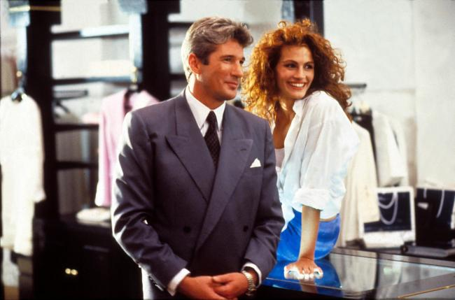 Richard Gere and Julia Roberts in the film version of Pretty Woman