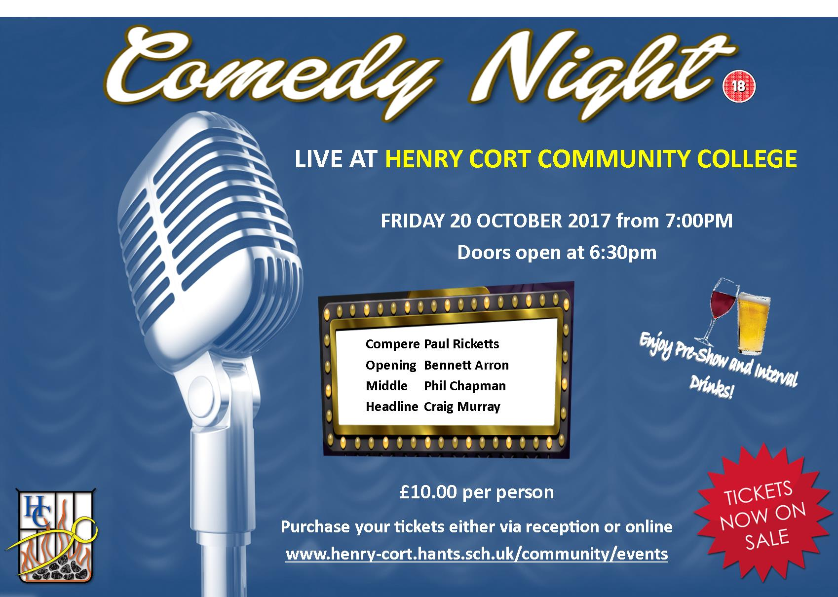 Comedy Night live at the Henry Cort Community College