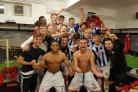 The young Boatmen in party mood (photo: Sholing FC)