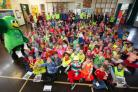Oakfield Primary School Be Bright Be Seen day - prizewinners for the best outfits