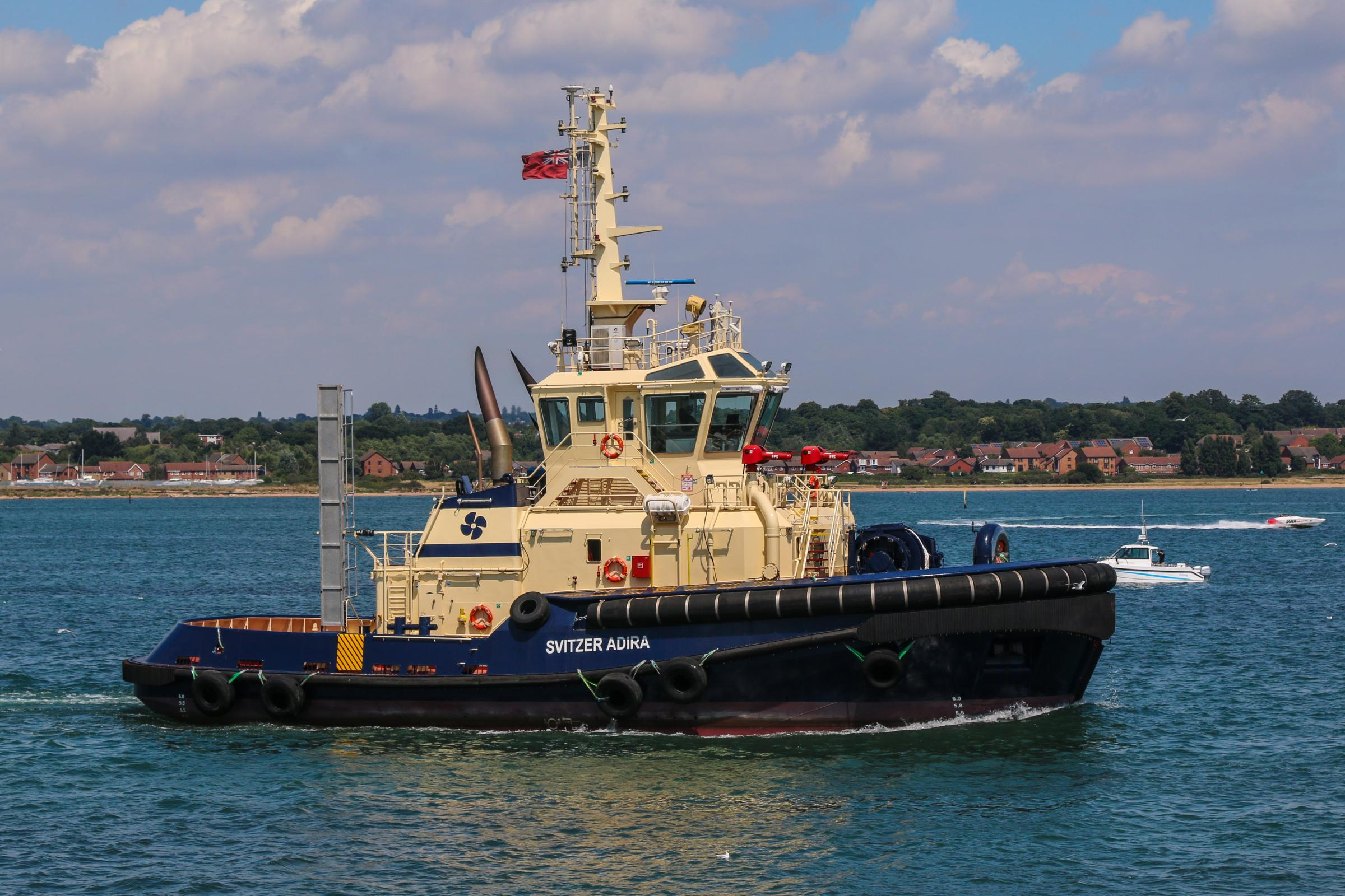 The new tug Svitzer Adira at work in the port