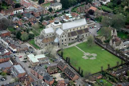 Romsey from the air