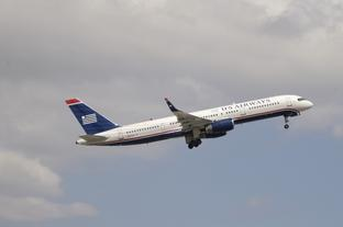 Stock image of a US Airways flight