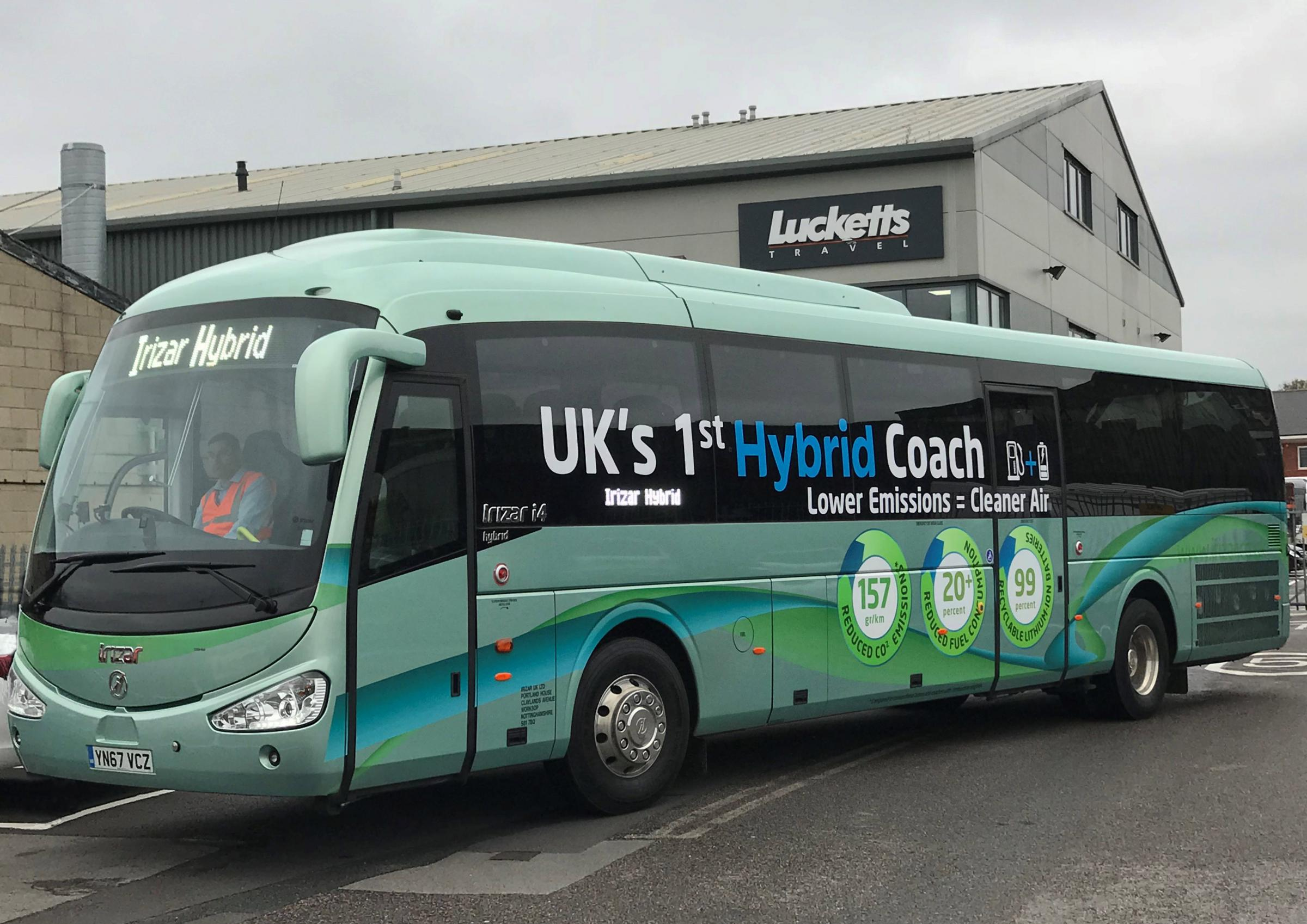 Irizar Hybrid coach being tested by Lucketts
