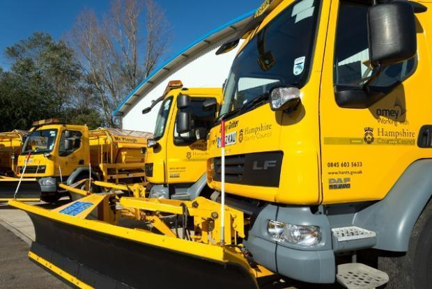 Stock photo of gritters