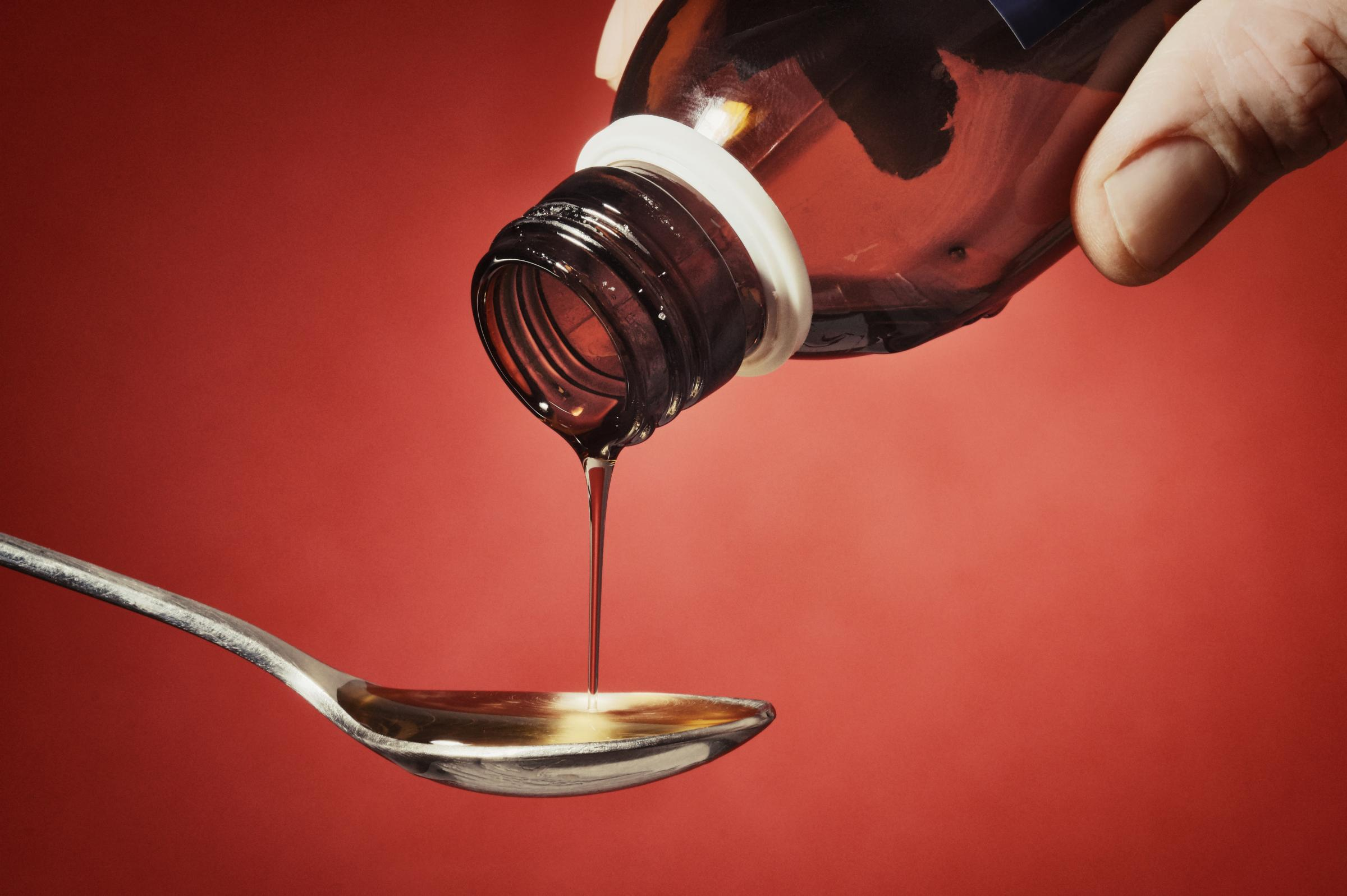 Stock photo of cough syrup