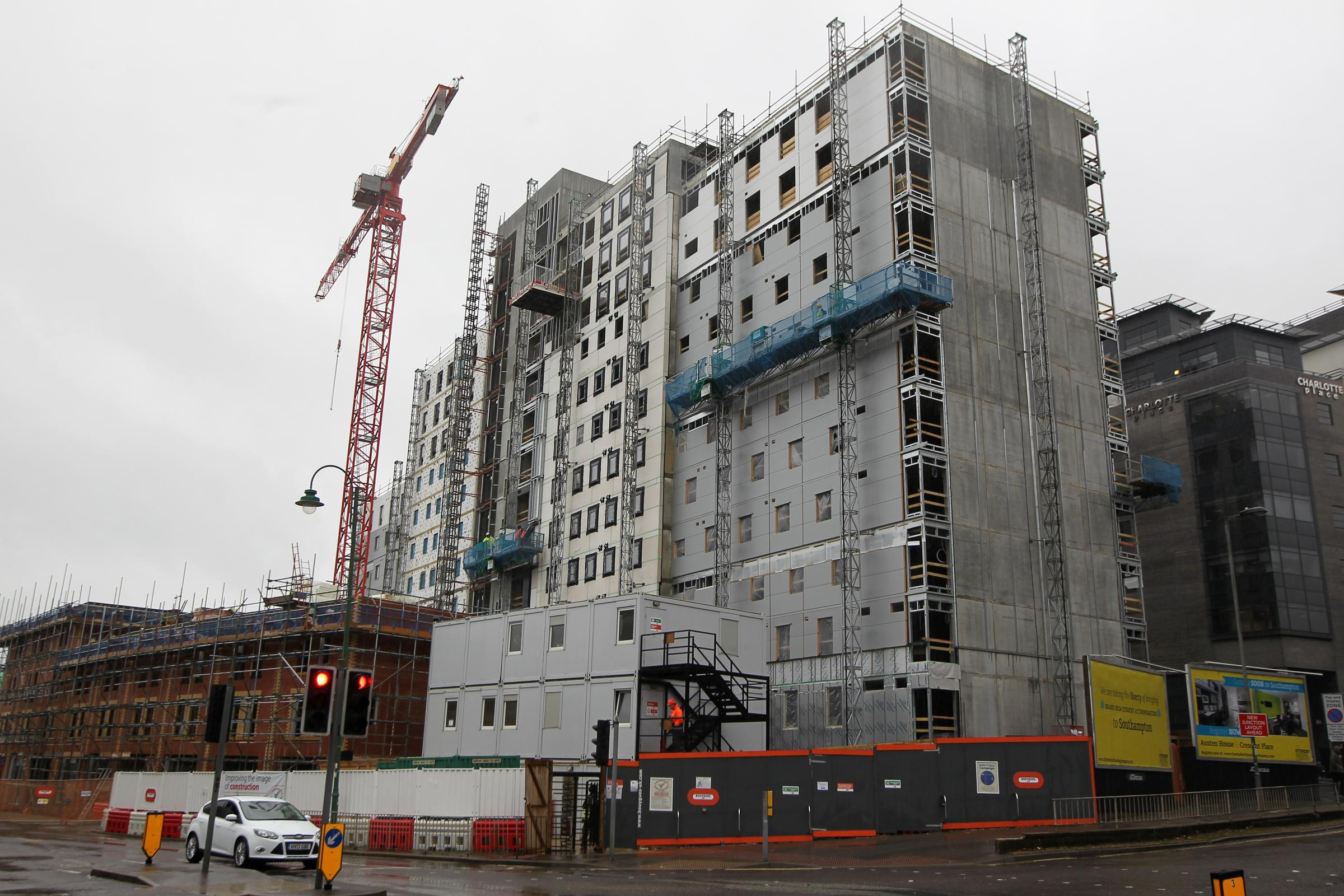 Student flats being built in Southampton