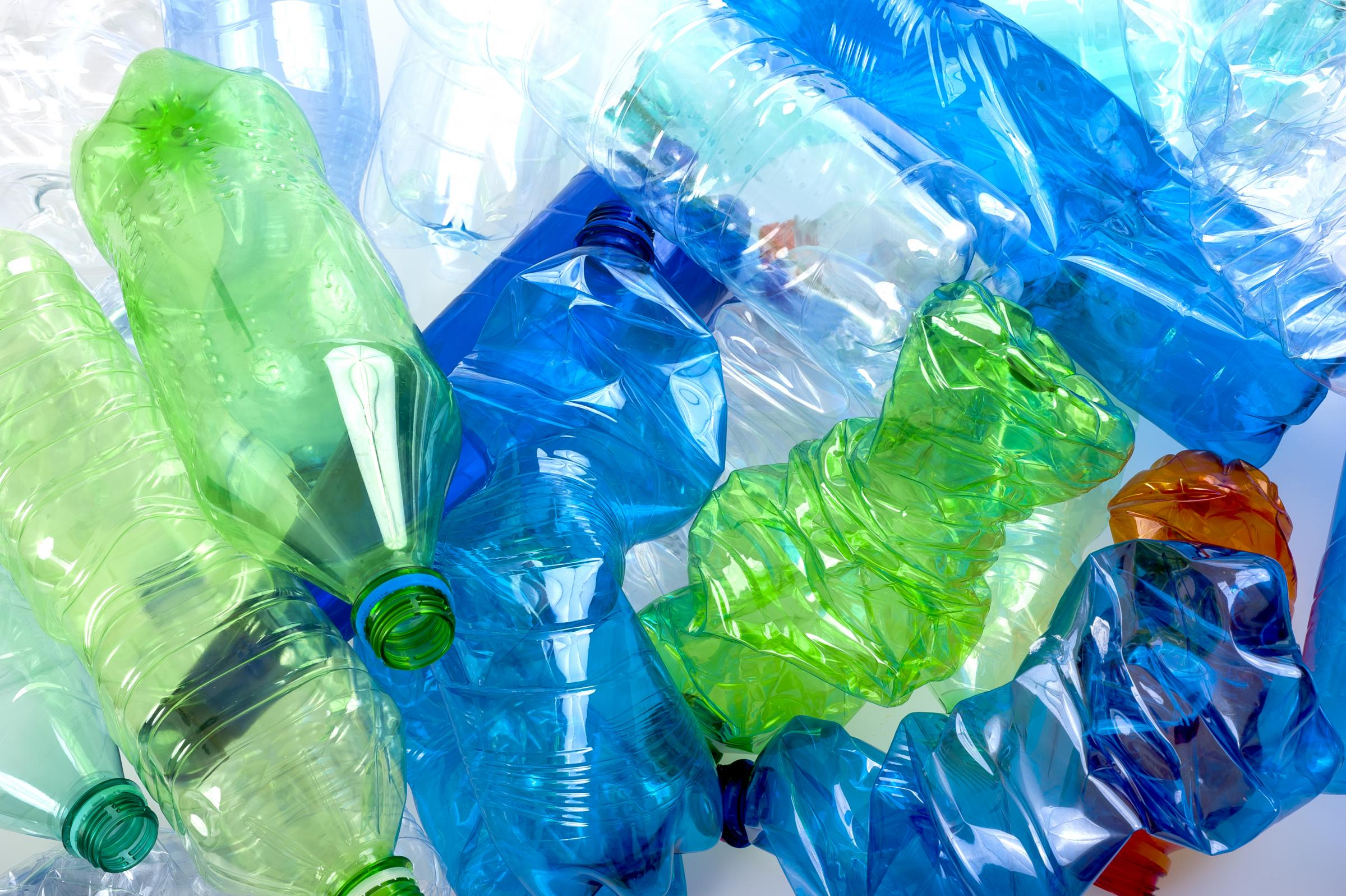 Plastic bottles will be recycled.