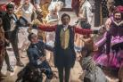 Undated film still handout from The Greatest Showman. Pictured: Hugh Jackman as PT Barnum and Keala Settle as the bearded lady Lettie Lutz. See PA Feature FILM Digest. Picture credit should read: PA Photo/Twentieth Century Fox Film Corporation/Niko Tavern