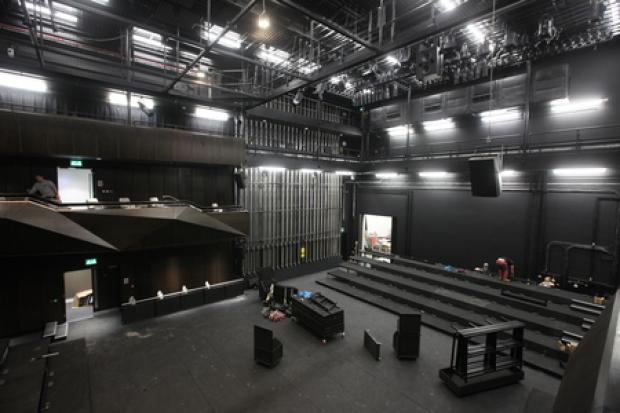 Nuffield Theatre in Studio 144 - first official tour of the building - Director Sam Hodges in the Studio Theatre