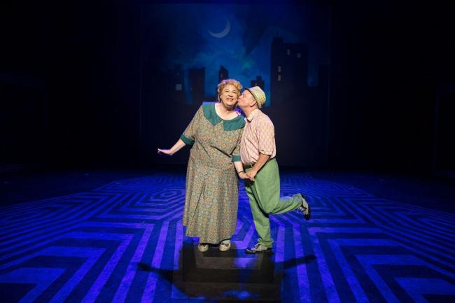 Matt Rixon and Norman Pace as the Turnblads in Hairspray
