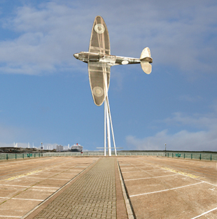 The proposed Spitfire tribute on the end of the Town Quay