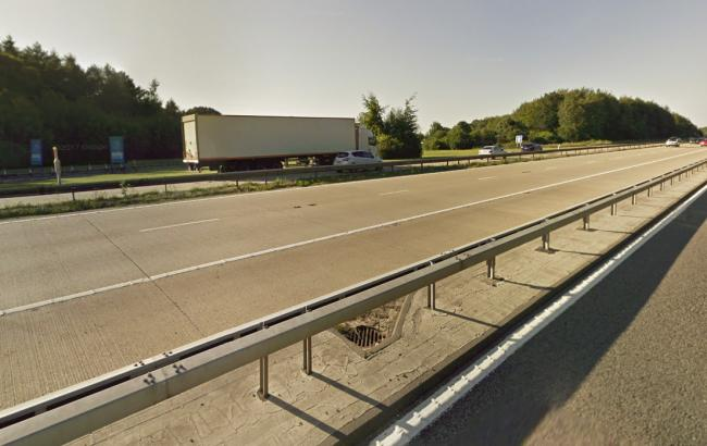 The M3 at Winchester services (Pic: Google Maps)