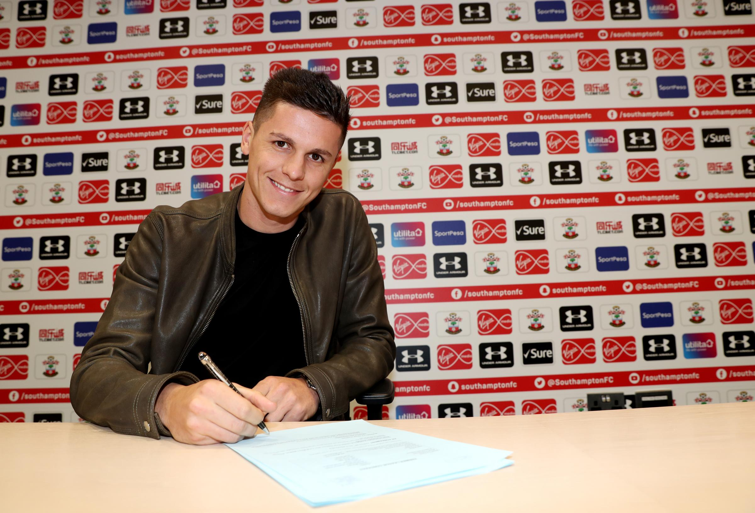 Guido Carrillo signs for Saints. Pic: Southampton FC