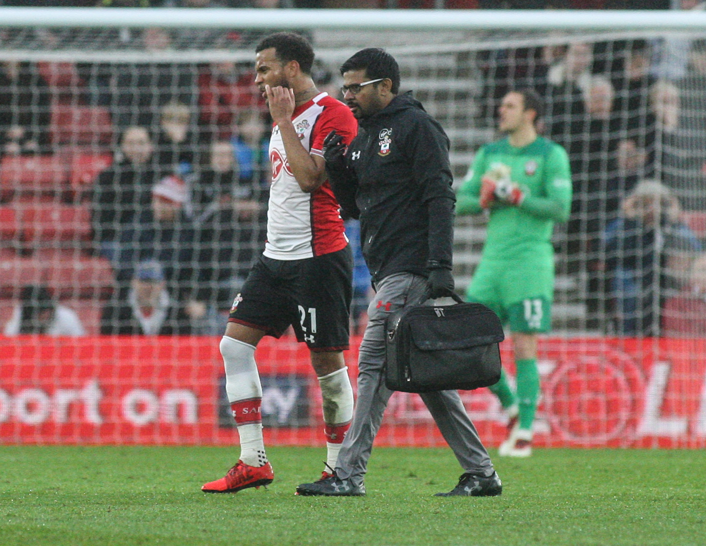 Ryan Bertrand limps off at St Mary's
