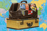 Daily Echo: Suitcases with Map