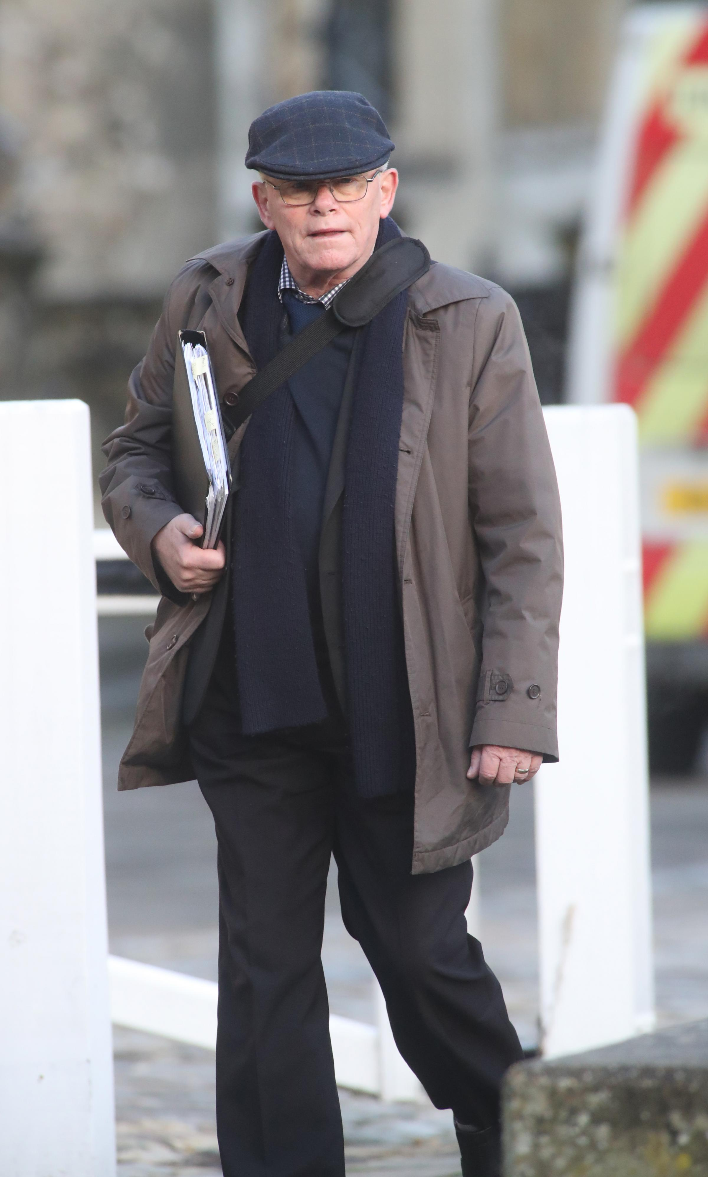 Graham Steed arriving at Winchester Crown Court - Stalking case.