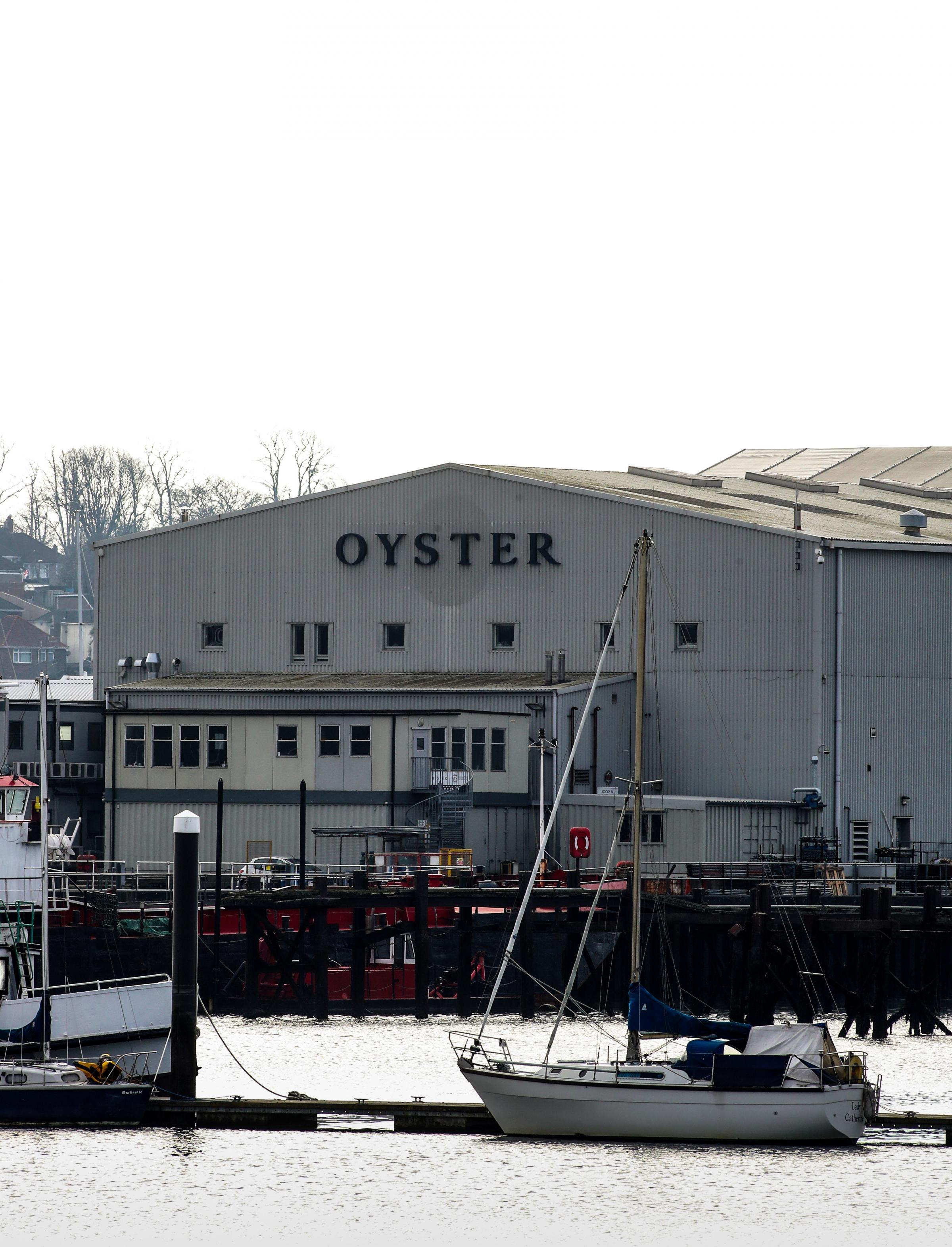 Oyster Yachts in Saxon Wharf Southampton.