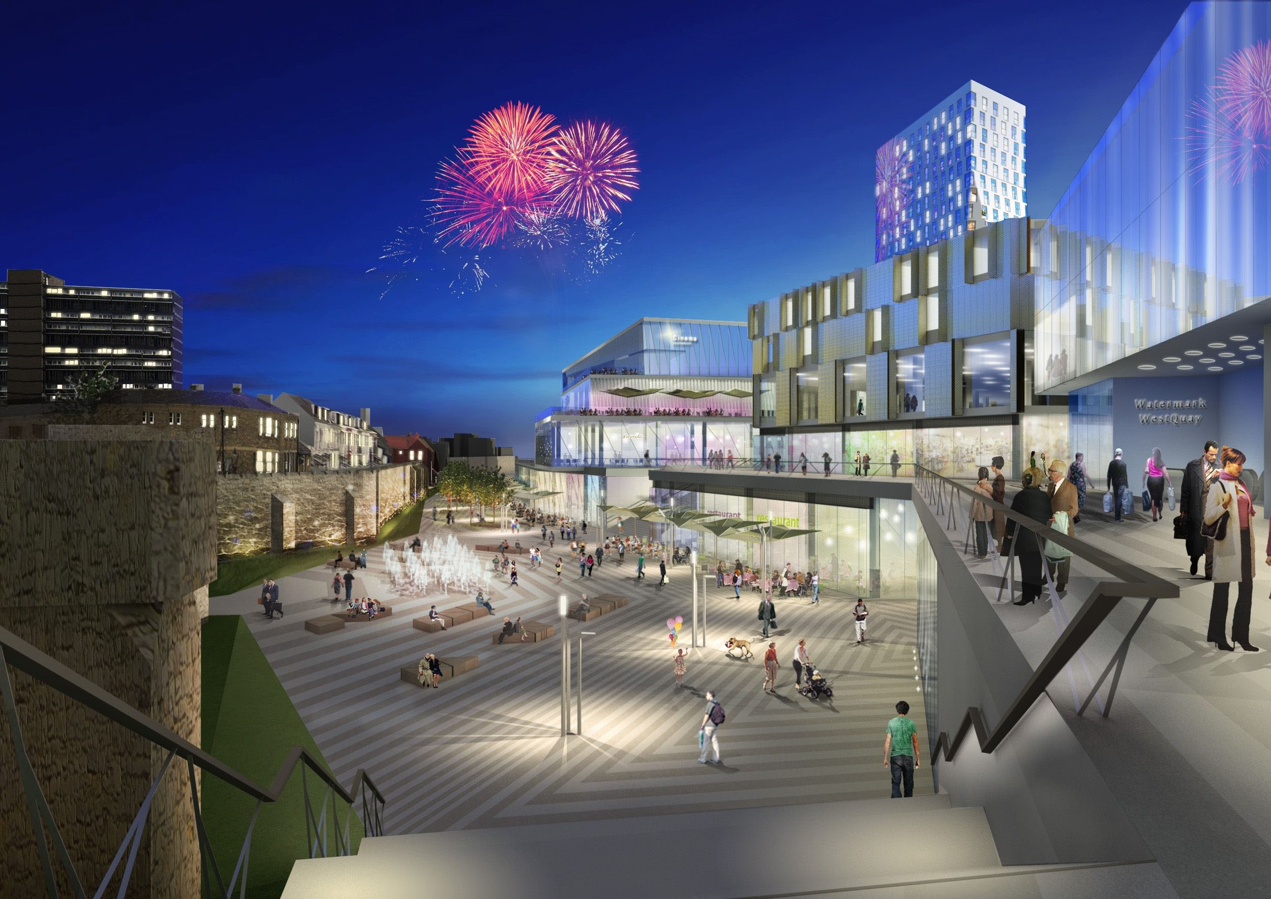 An earlier artist's impression of Watermark WestQuay