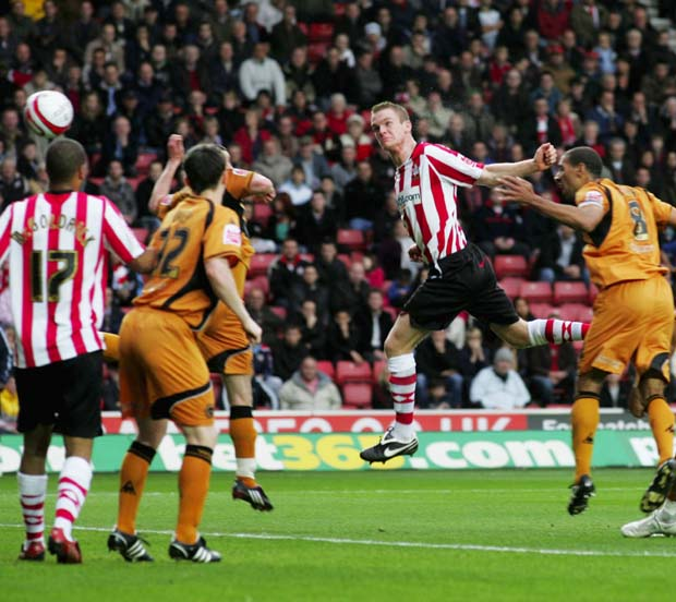 NO INSTANT RECALL: Alex Pearce, seen here scoring on his last appearance against Wolves, must make do with a subs place tonight.