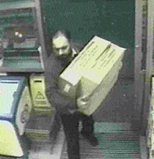 SANDWICH MAN: Maninder Pal Singh Kohli, on his delivery round, in CCTV footage