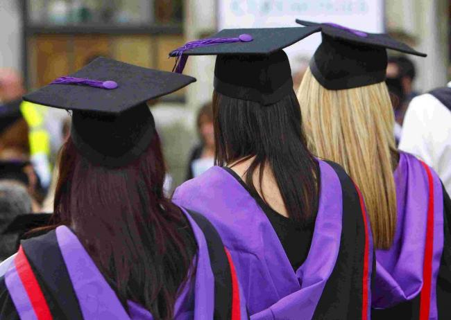 File photo dated 16/07/08 of university graduates as tuition fees at some universities could reach £10,000 a year by 2020, it has been suggested. PRESS ASSOCIATION Photo. Issue date: Thursday July 30, 2015. A new study, by the Independent Com