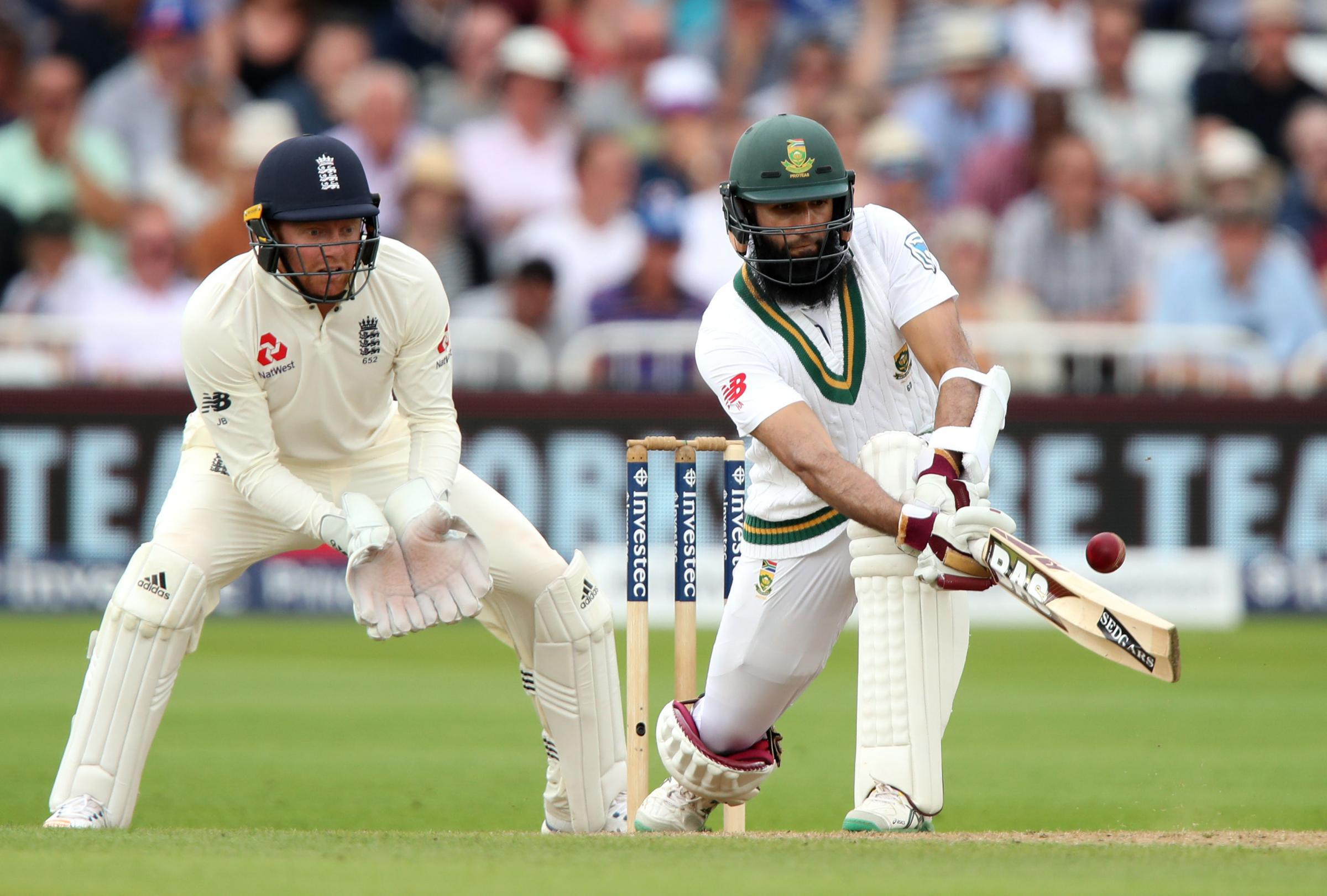 Hashim Amla in action for South Africa against England