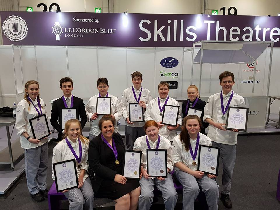 Eastleigh College hospitality and catering students competed in the UK's largest chef competition and won 11 medals including the desired Gold.