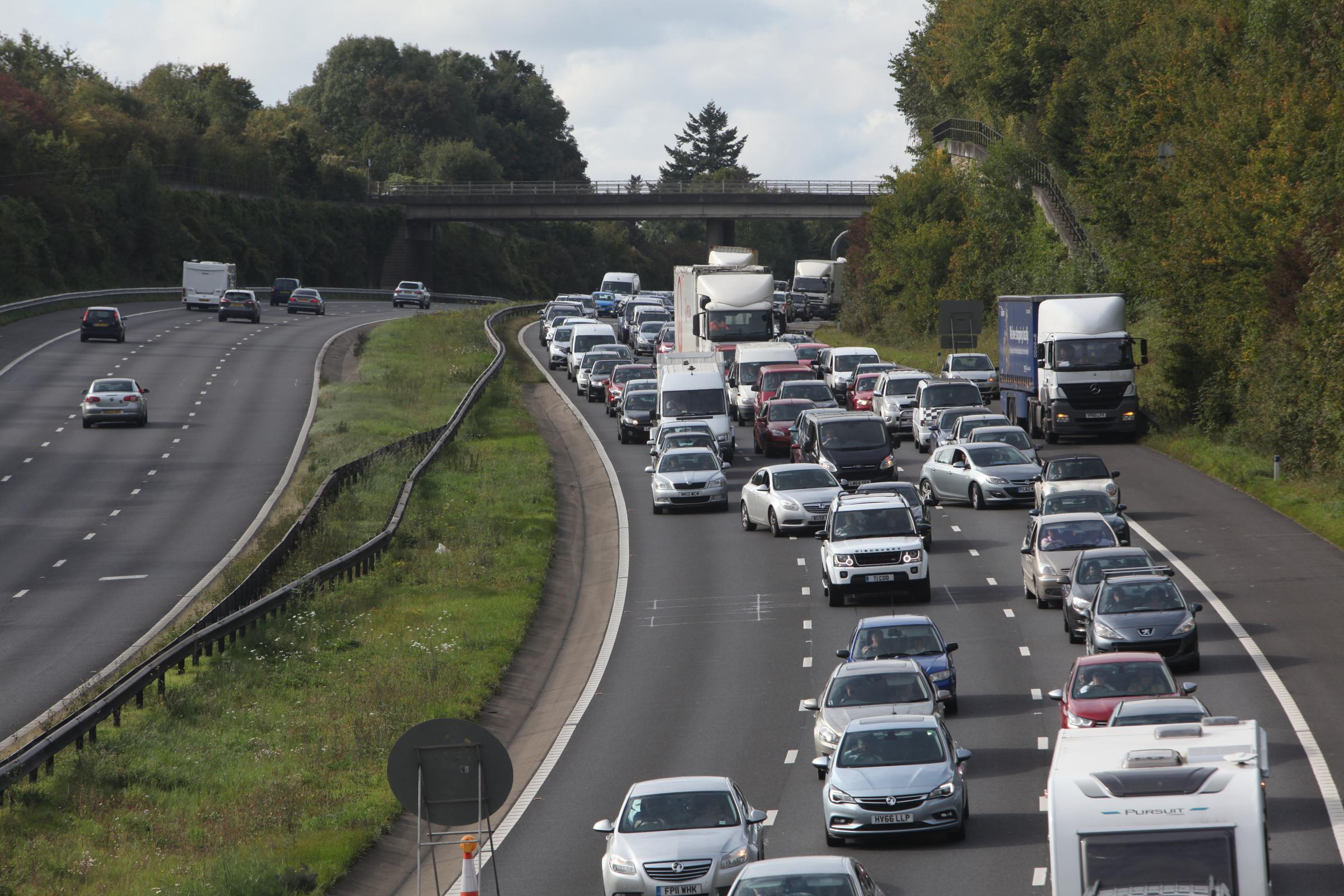 Delays on M3 after vehicle blocks lane