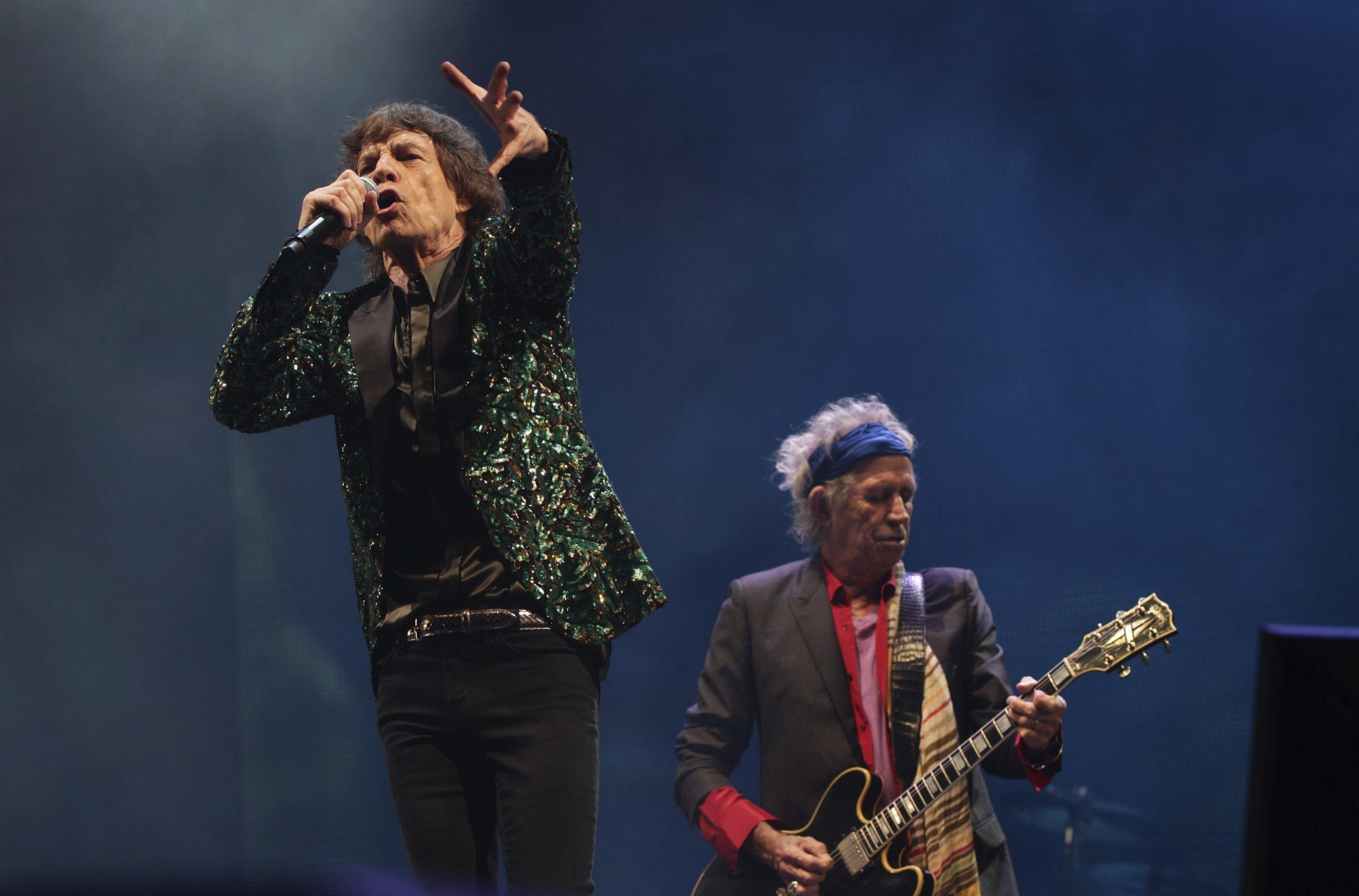 Mick Jagger and Keith Richards from the Rolling Stones (Yui Mok/PA Wire)