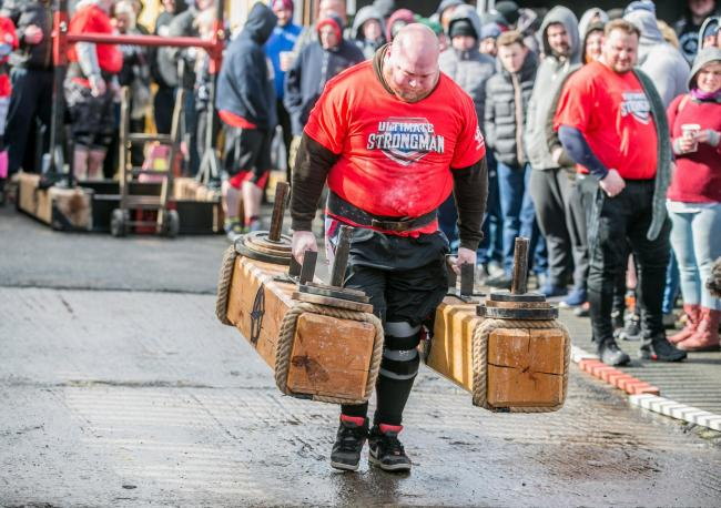 Competitors take on Strongman qualifier at JP Fitness, Spennymoor