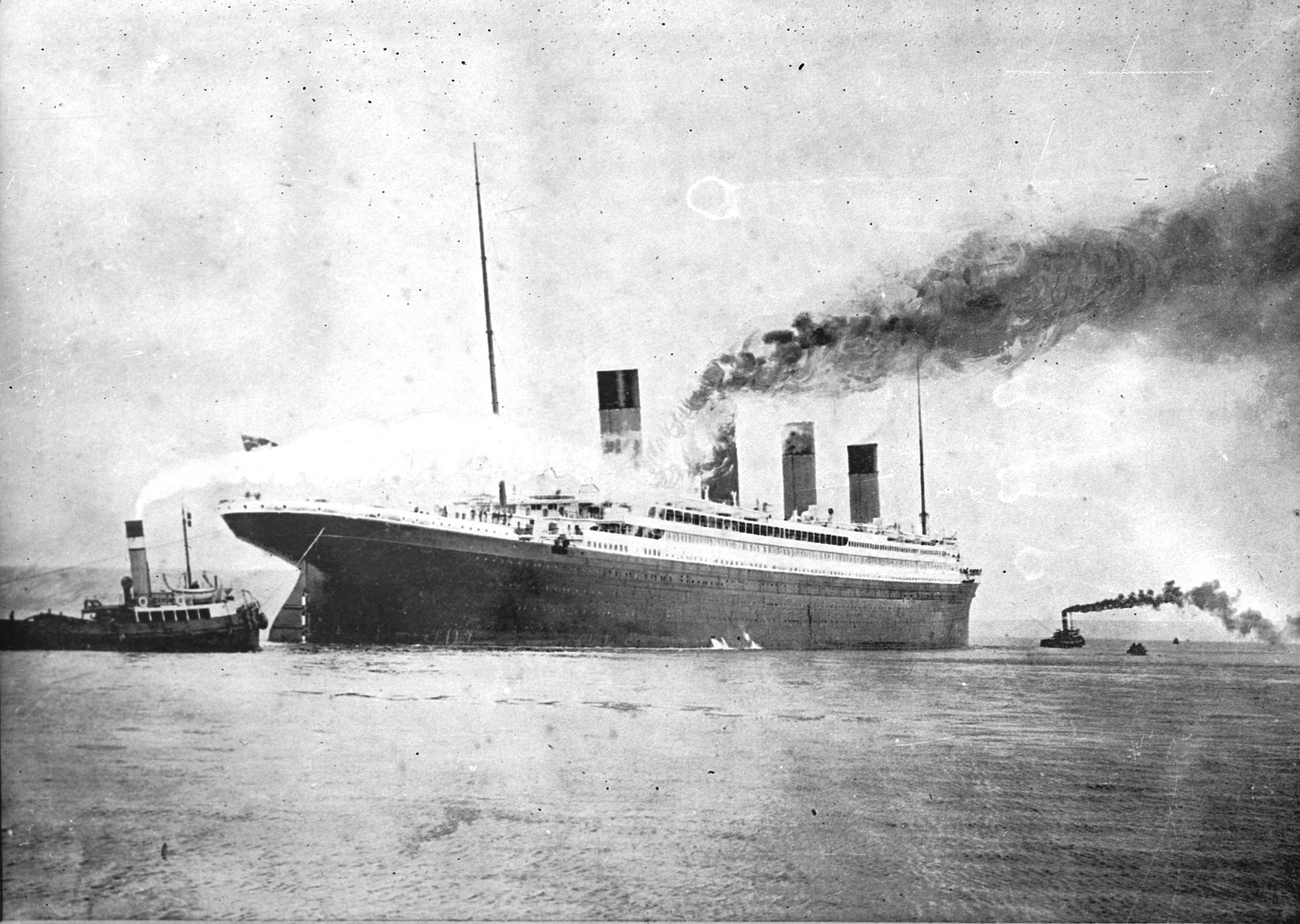 TITANIC SCANNED FROM GLASS NEG.