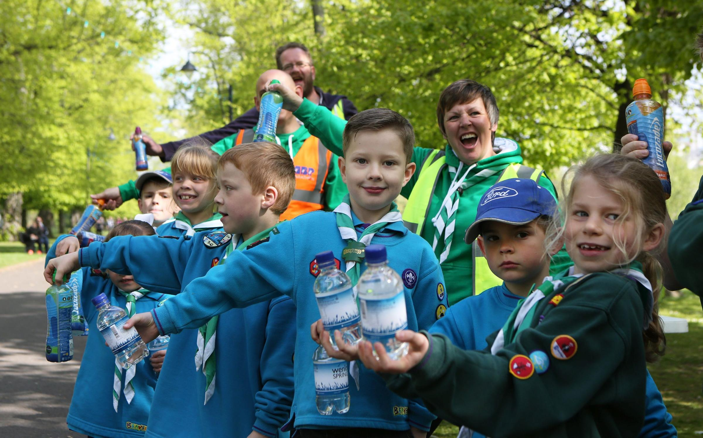 Water will be handed out by helpers at the ABP Southampton Marathon