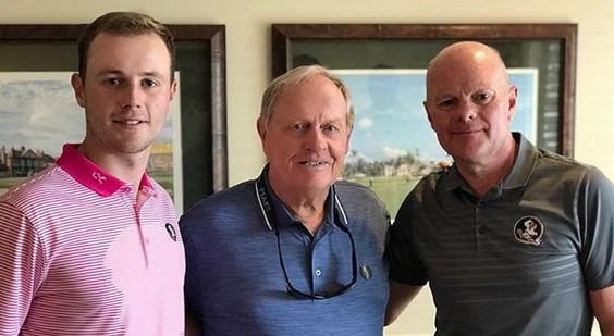 Harry Ellis, Jack NIcklaus and Harry's dad Murray (Photo: Instagram/jacknicklaus)