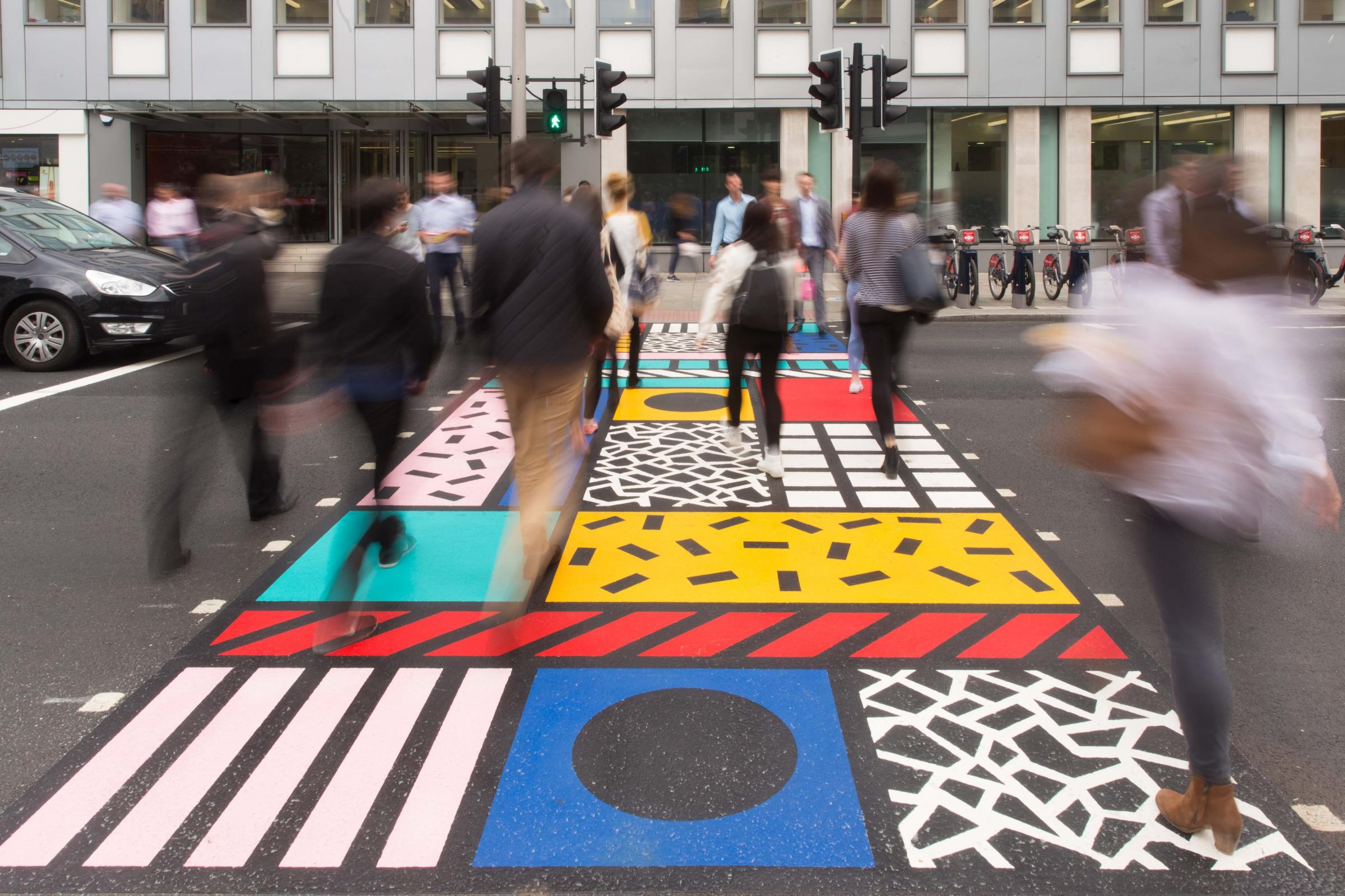 Camille Walala Colourful Crossing commissioned by Better Bankside - credit should read Better Bankside. This is what a new piece of public art in Southampton could look like