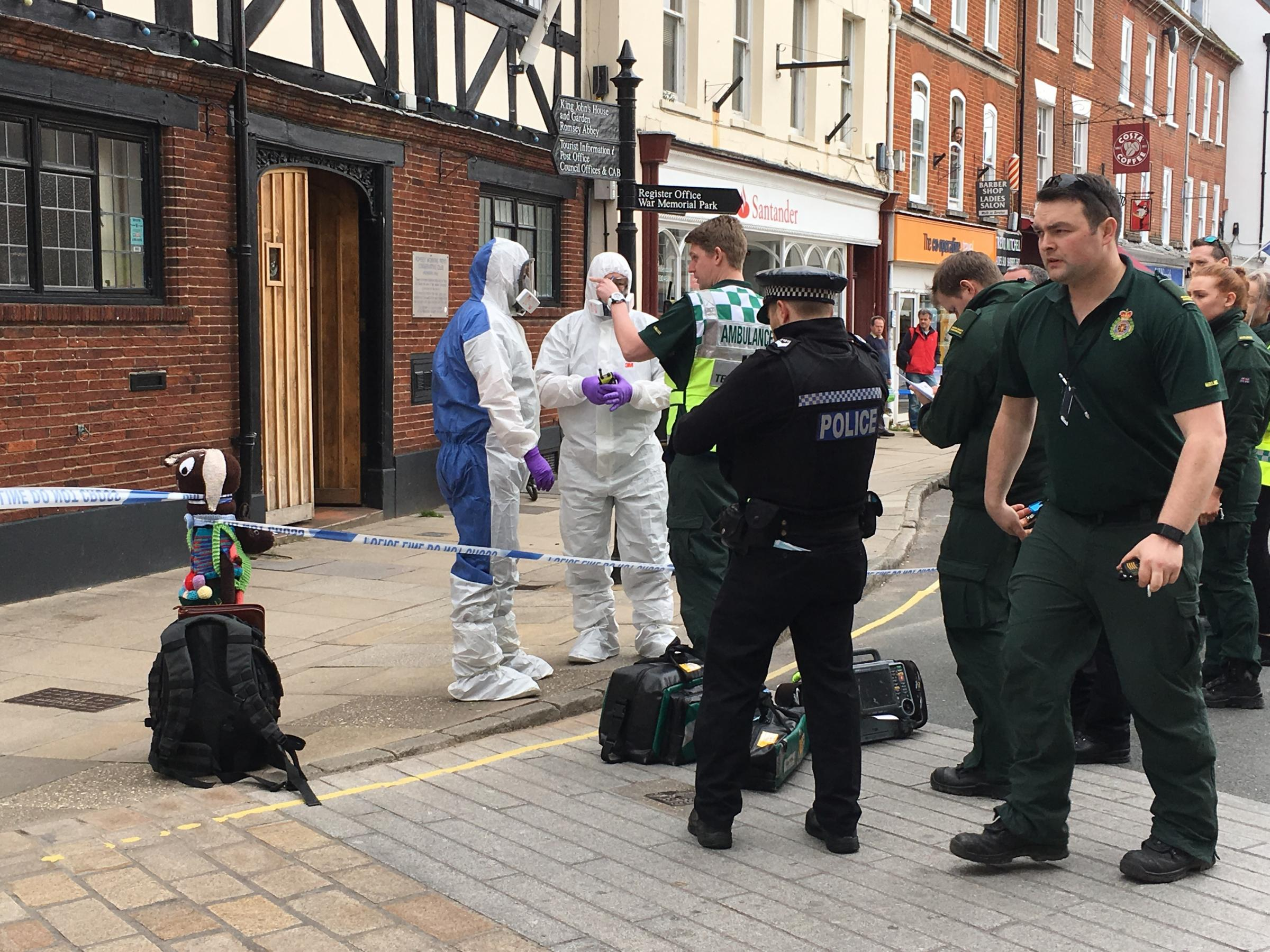 A suspicious letter triggered an alert at Caroline Nokes' office in Market Square, Romsey