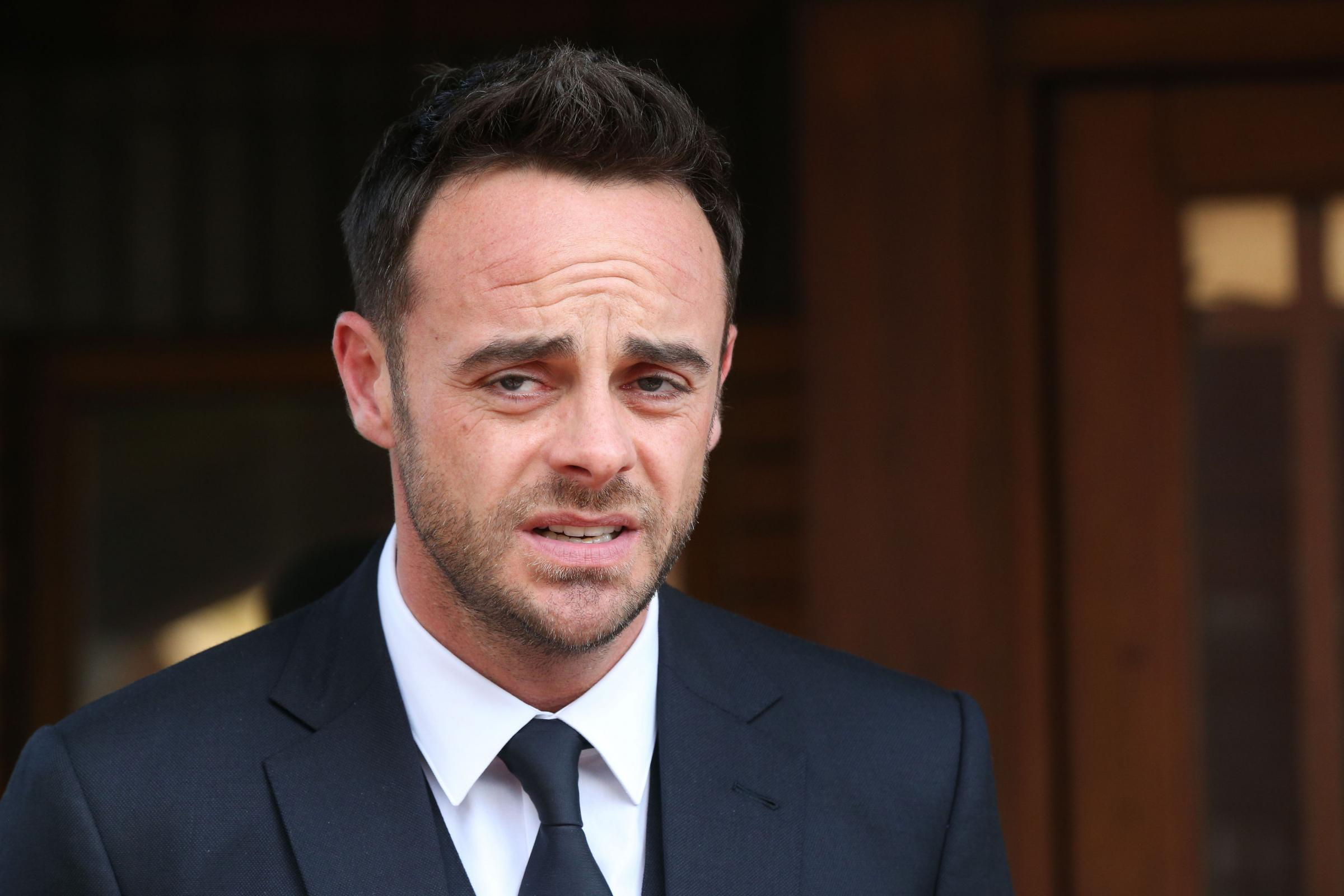 TV presenter Anthony McPartlin outside The Court House in Wimbledon, London, after being fined  86,000 at Wimbledon Magistrates' Court after admitting driving while more than twice the legal alcohol limit. (Jonathan Brady/PA Wire)