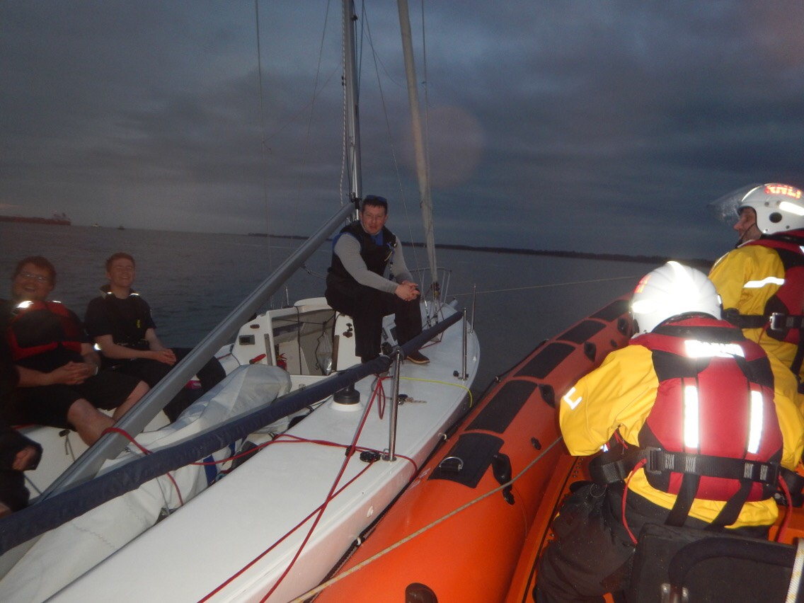 Lifeboat forced to assist yachts during training session